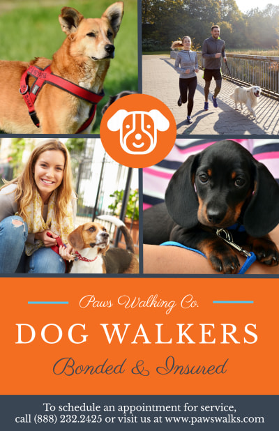 Dog Walkers Poster Template Preview 1