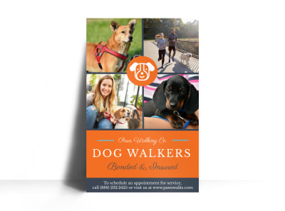 Dog Walkers Poster Template preview
