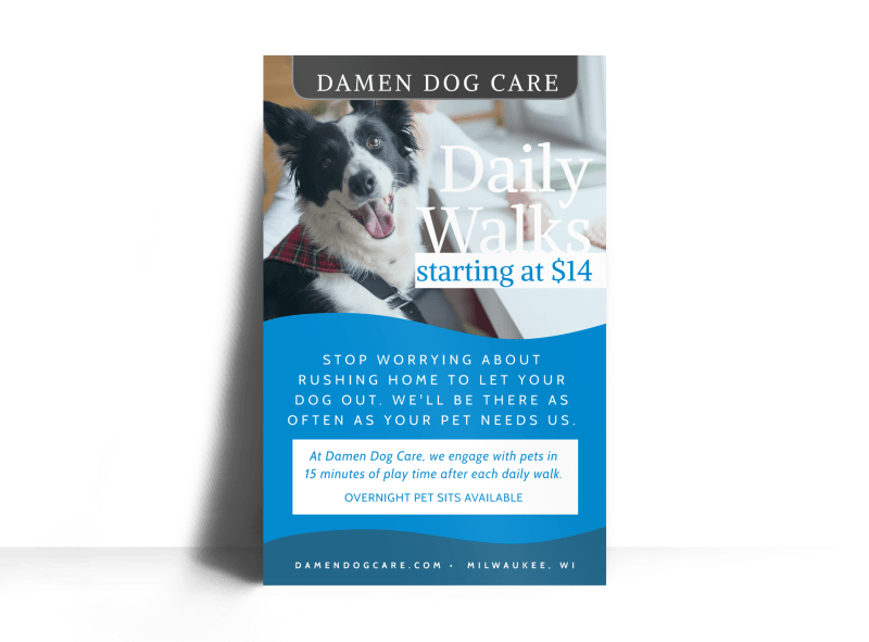 Daily Dog Walking Poster Template Preview 1