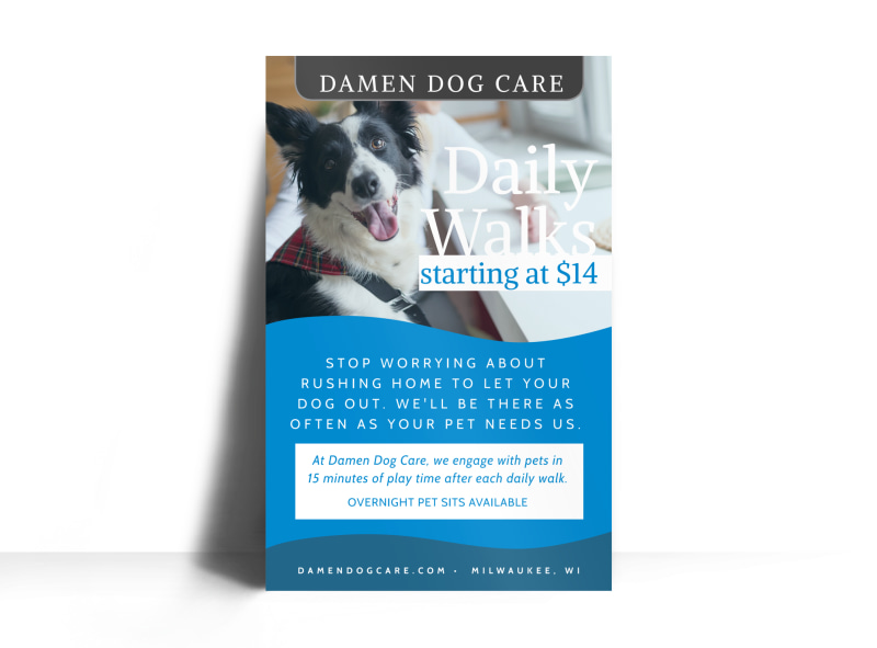 Daily dog walking poster template mycreativeshop for Dog walking flyer template free