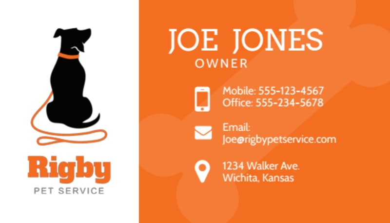 Dog Walking Business Card Template Preview 2