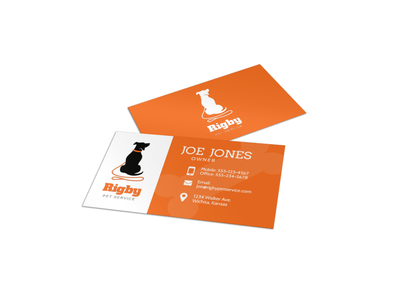 Dog Walking Business Card Template Preview 1