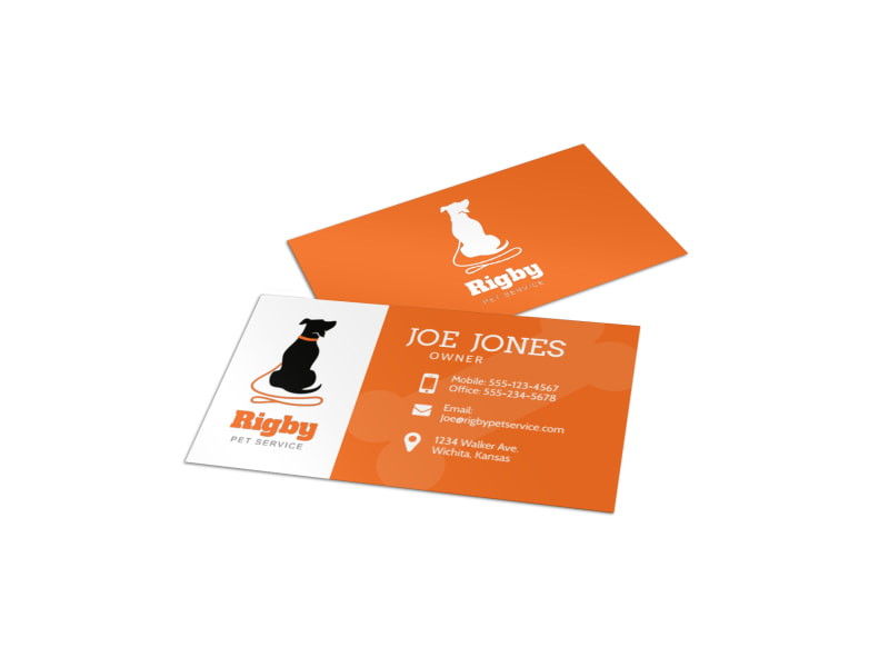 Dog Walking Business Card Template Preview 4