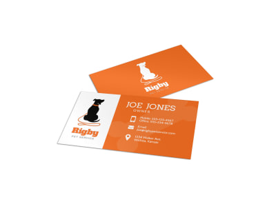 Dog Walking Business Card Template preview