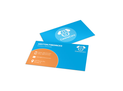 Playful Dog Walking Business Card Template preview