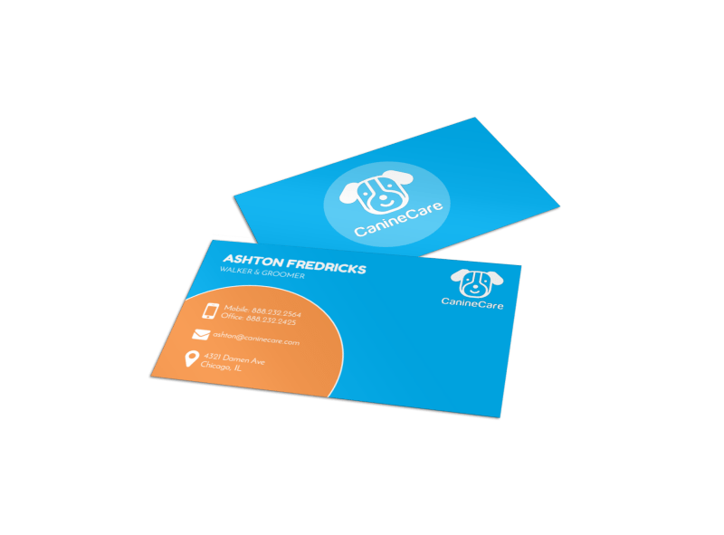 Playful Dog Walking Business Card Template Preview 1
