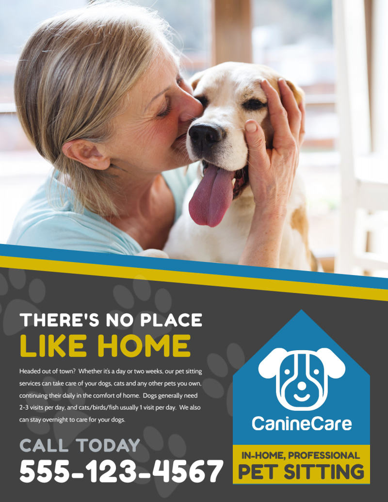 Like Home Pet Sitting Flyer Template Preview 2