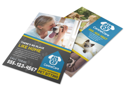 Like Home Pet Sitting Flyer Template preview
