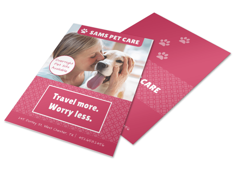 Pet Care Flyer Template Preview 1