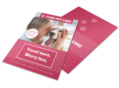 Pet Care Flyer Template preview