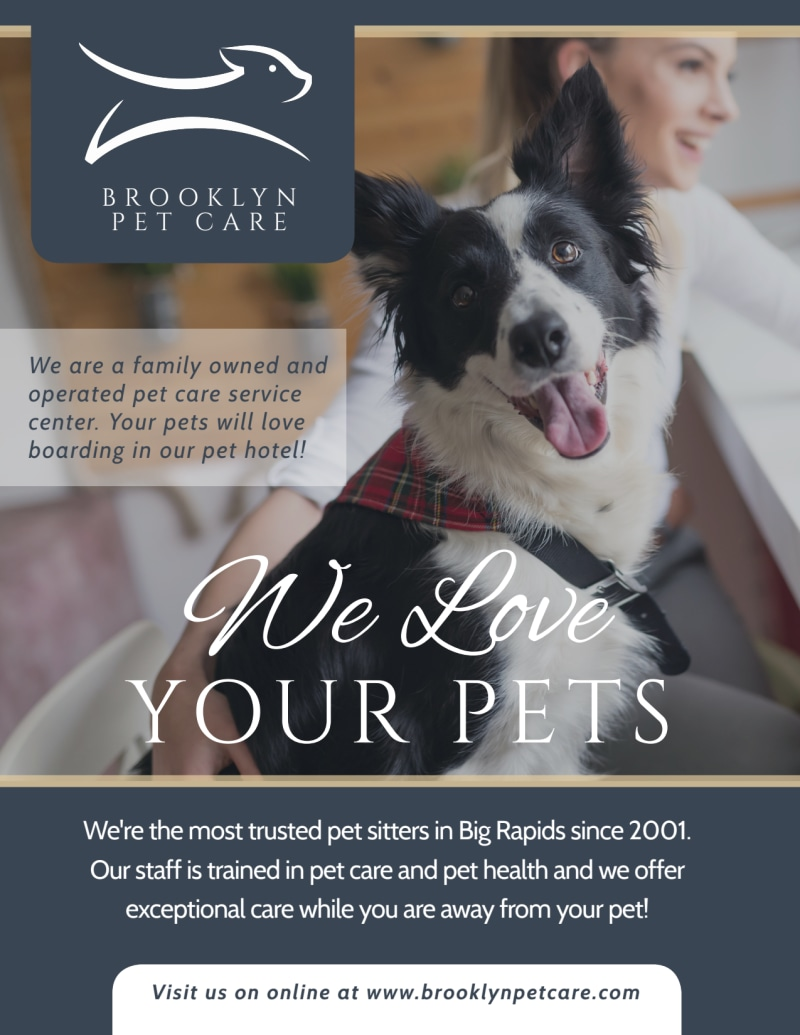 We Love Pet Sitting Flyer Template Preview 2