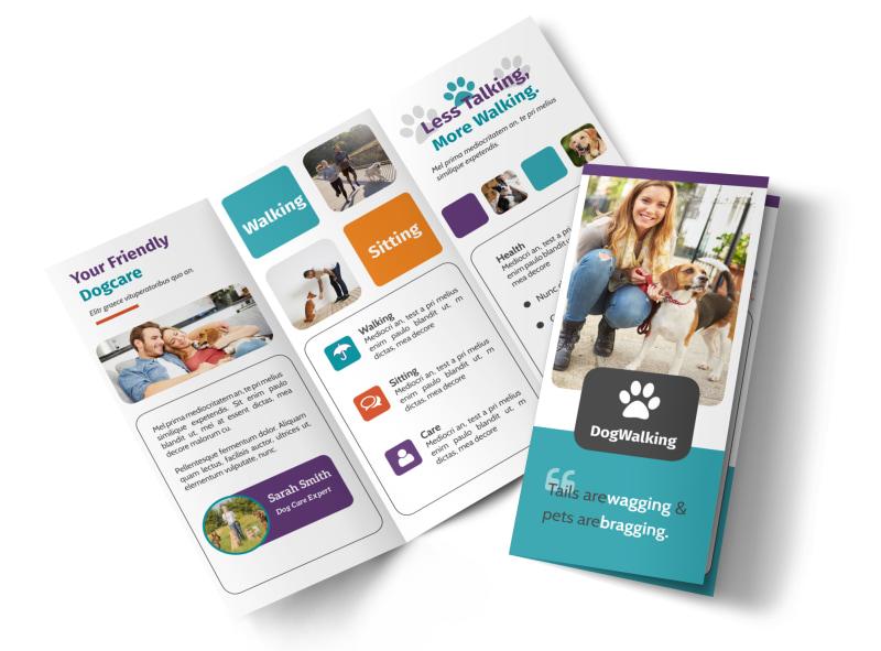 Pet Sitting Tri-Fold Brochure Template
