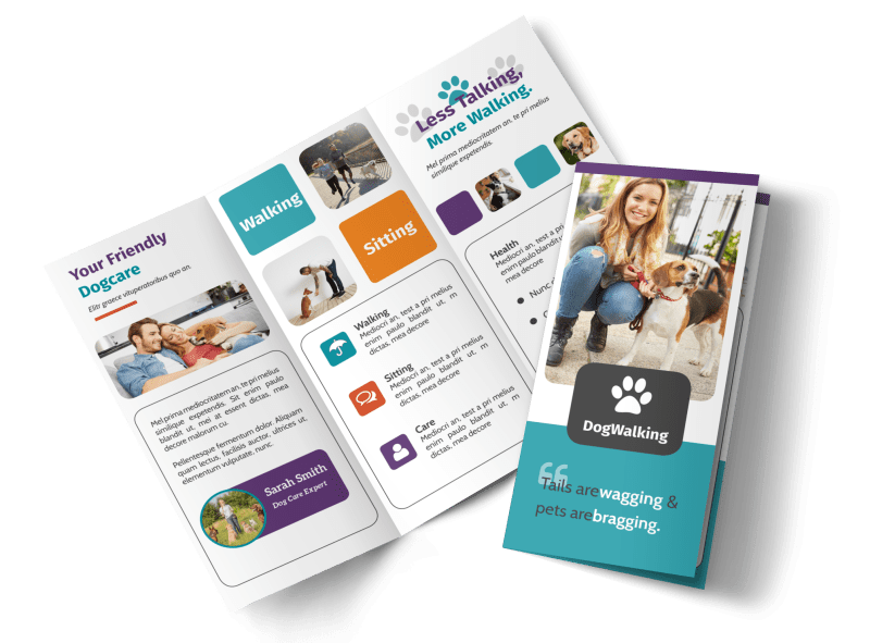 Pet Sitting Tri-Fold Brochure Template Preview 1