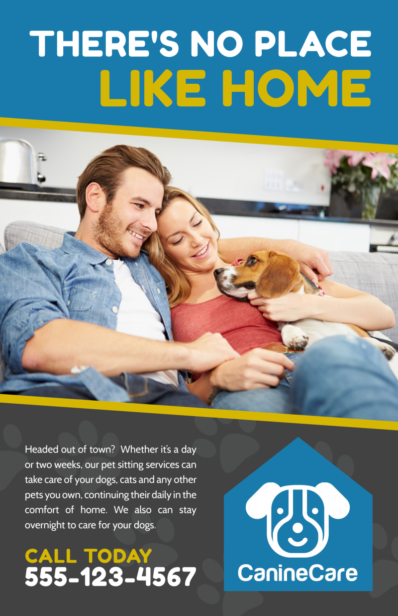 Like Home Pet Sitting Poster Template Preview 2