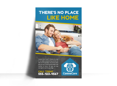 Like Home Pet Sitting Poster Template