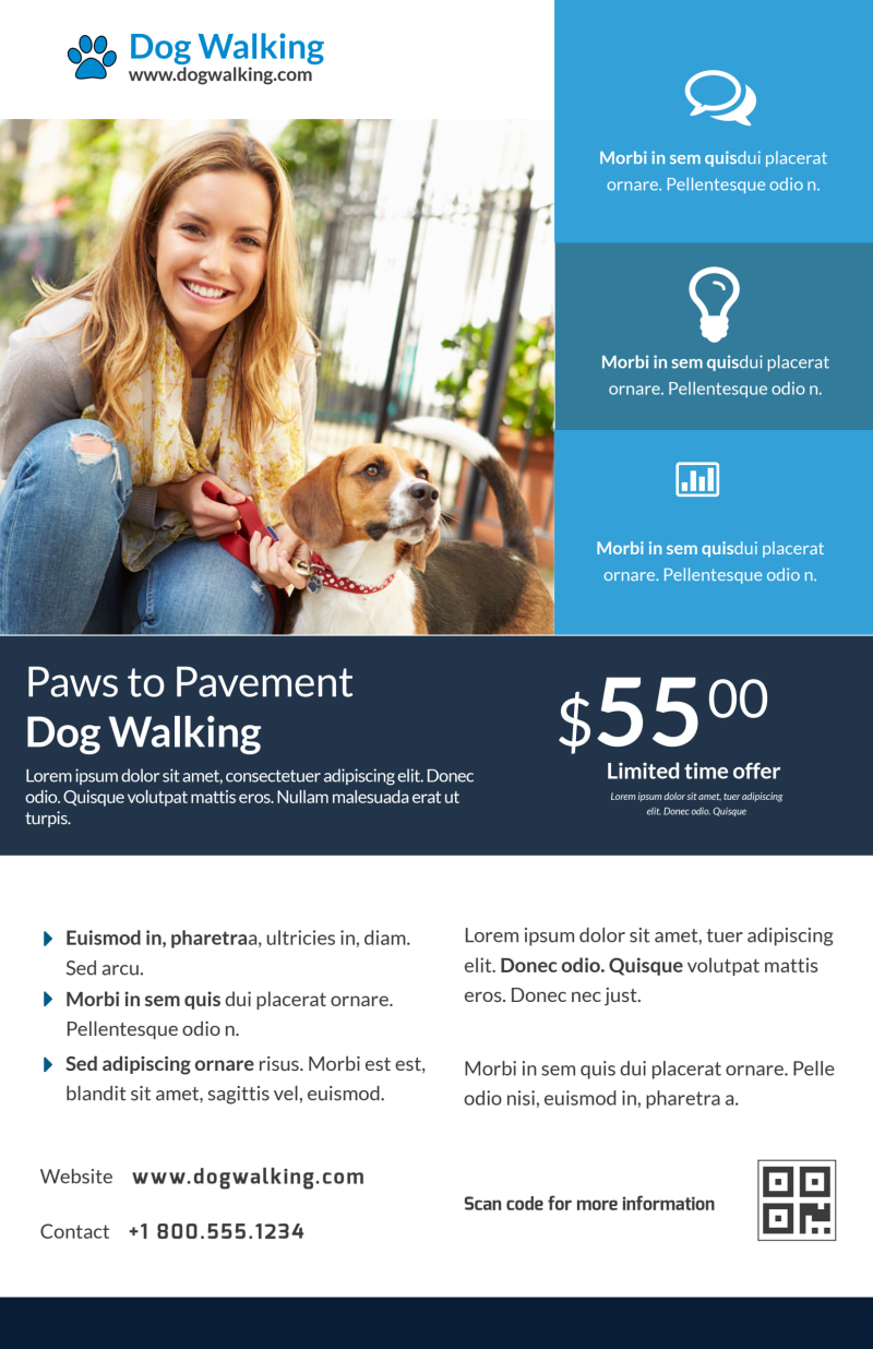 Friendly Pet Sitting Poster Template Preview 2