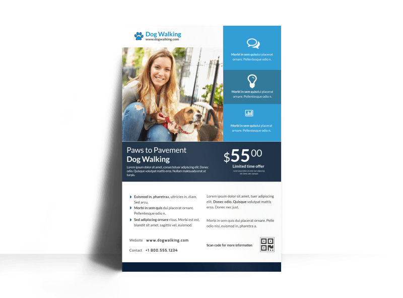 Friendly Pet Sitting Poster Template Preview 1