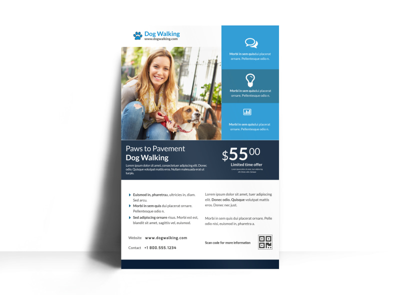 Friendly Pet Sitting Poster Template