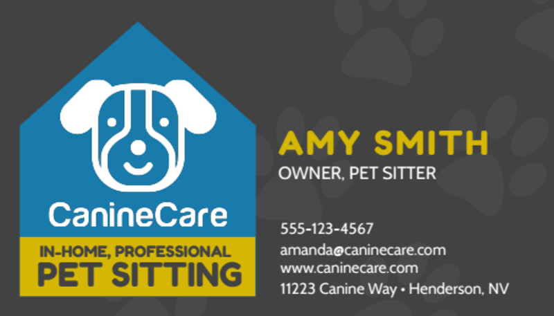 In-Home Pet Sitting Business Card Template Preview 2