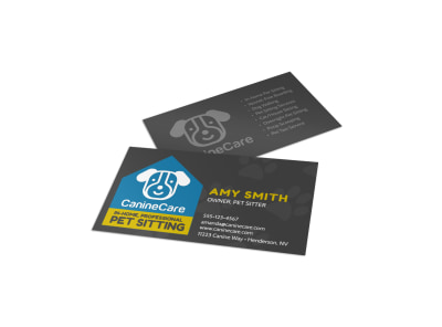 In-Home Pet Sitting Business Card Template preview