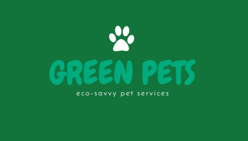 Green Pet Sitting Business Card Template Preview 3