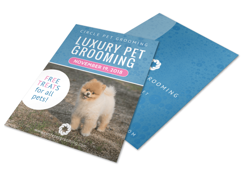 Luxury Pet Grooming Flyer Template Preview 1