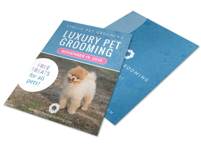 Luxury Pet Grooming Flyer Template preview