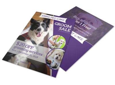 Pet Grooming Sale Flyer Template preview