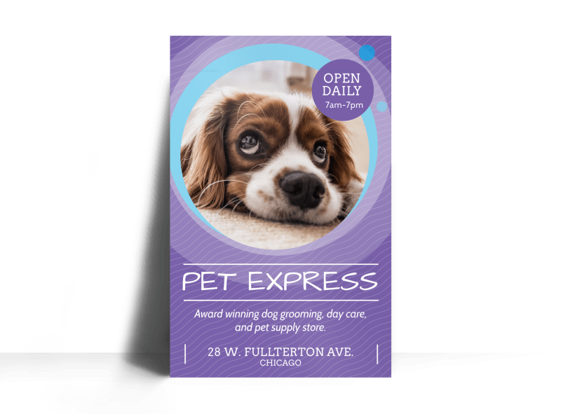 Award Winning Pet Grooming Poster Template Preview 1