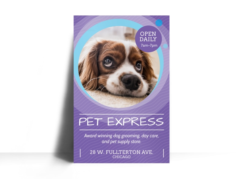 Award Winning Pet Grooming Poster Template Preview 3