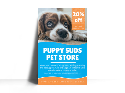 Puppy Suds Poster Template preview