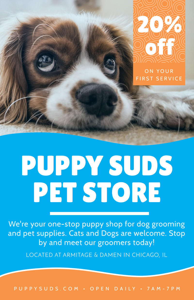 Puppy Suds Poster Template Preview 2