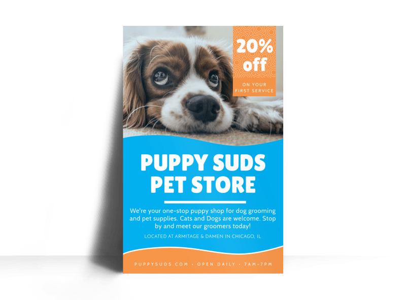 Puppy Suds Poster Template Preview 1