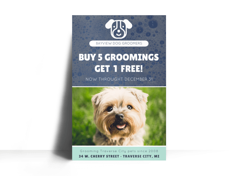 Bayview Pet Grooming Poster Template Preview 1