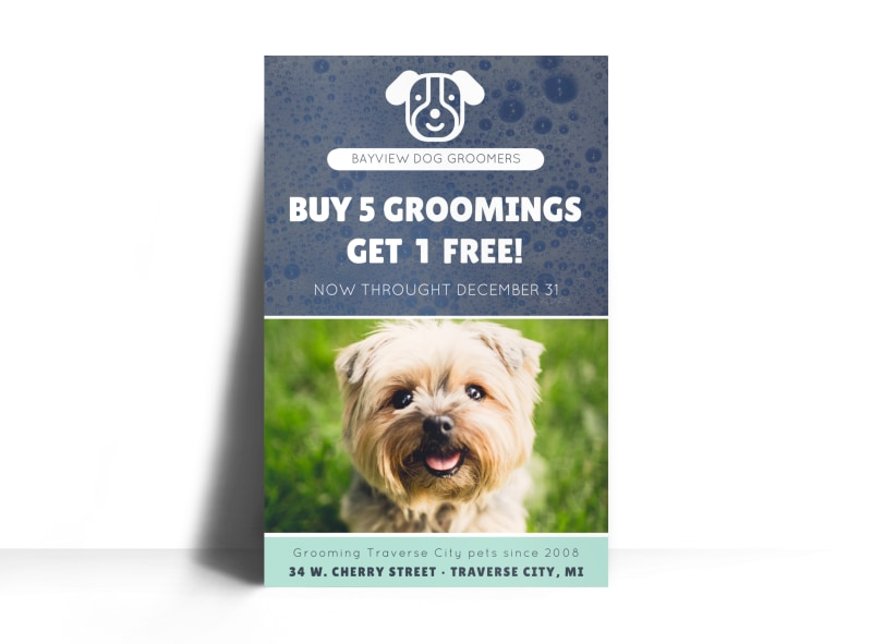 Bayview Pet Grooming Poster Template