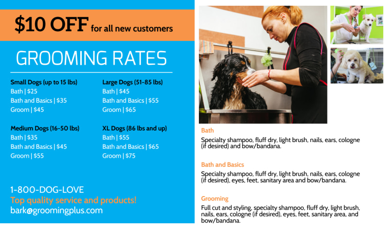 Grooming Appointment Postcard Template Preview 3