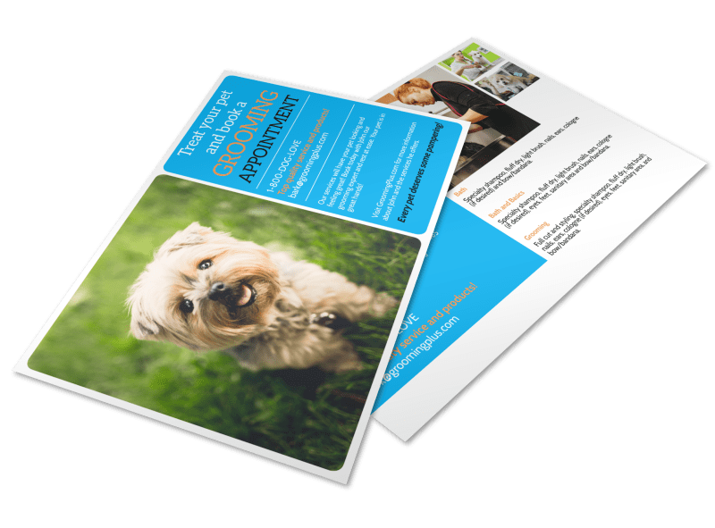 Grooming Appointment Postcard Template Preview 1