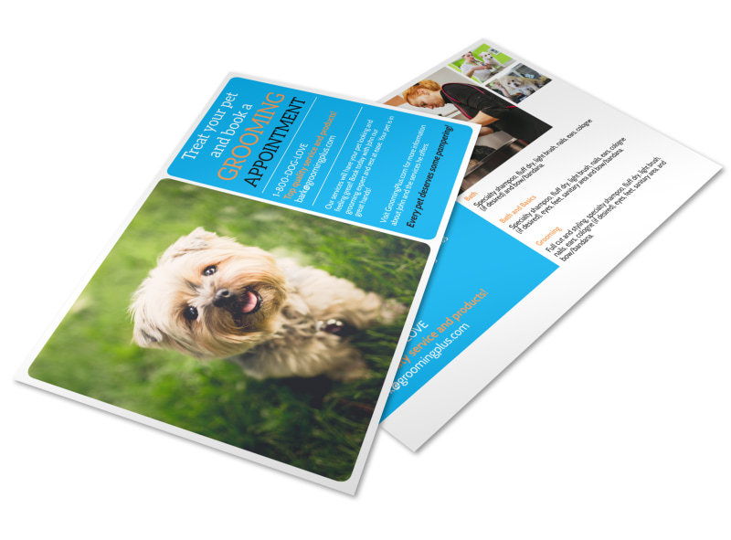 Grooming Appointment Postcard Template