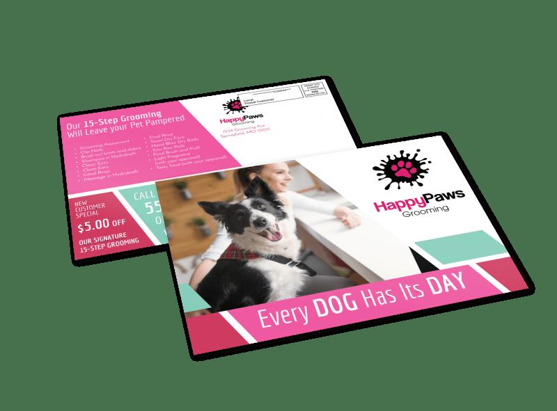Pet Grooming EDDM Postcard Template Preview 1