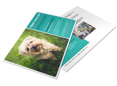Pet Grooming Appointment Postcard Template preview