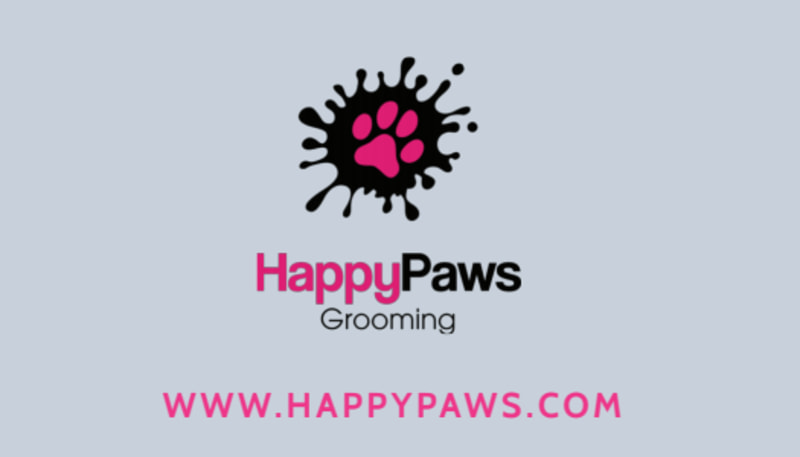 Pet Grooming Service Business Card Template Preview 3