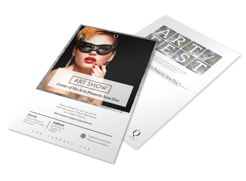 Art Show Flyer Template Mycreativeshop