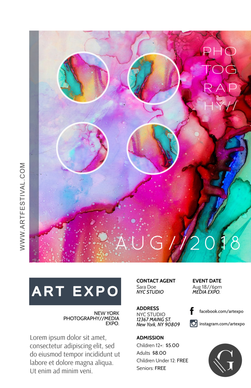 Art Expo Poster Template Preview 2