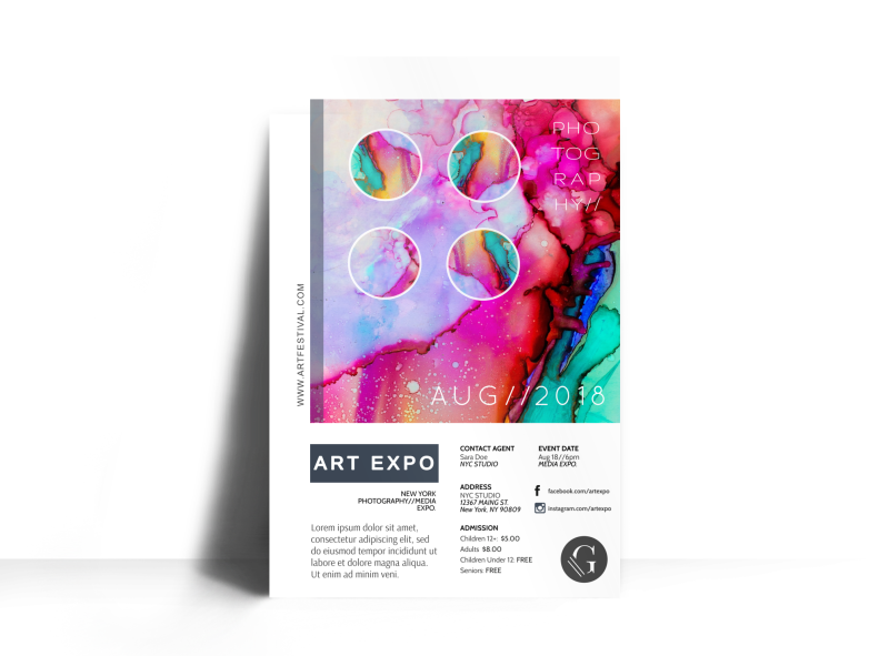 Art Expo Poster Template Preview 1