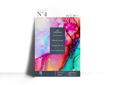 No4 Art Show Poster Template preview