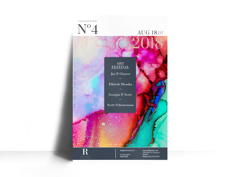 No4 Art Show Poster Template Preview 1