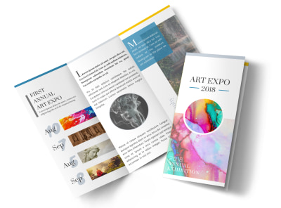 Art Show Tri-Fold Brochure Template preview