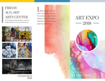 Art Show Tri-Fold Brochure Template Preview 1