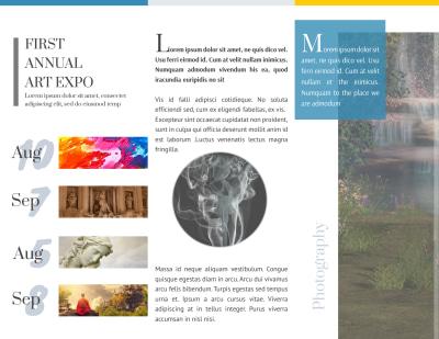 Art Show Tri-Fold Brochure Template Preview 2