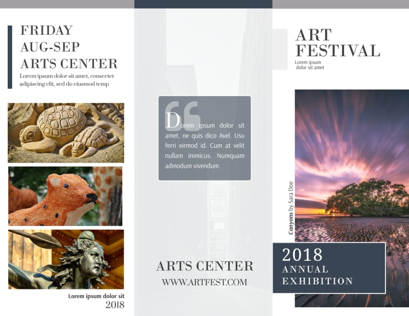 Art Festival Tri-Fold Brochure Template Preview 2